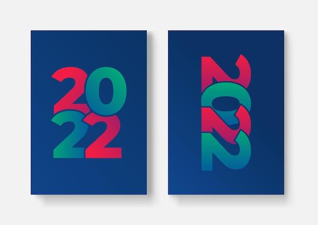 2022 modelo de design com espaço de cópia. tipografia forte. colorido e fácil de lembrar. design para branding, apresentação, portfólio, negócios, educação, banner. vetorial, ilustração