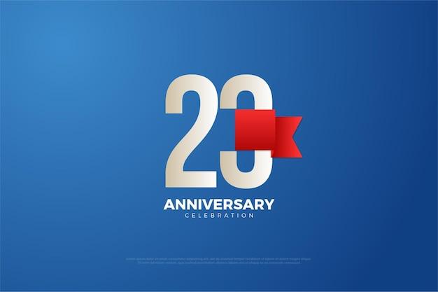 23º aniversário usando um design simples