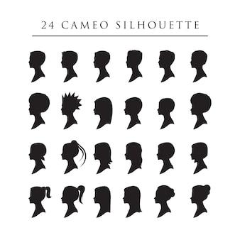 24 cameo sillhouette