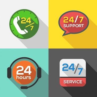 24 horas de coleta de logotipos de serviços