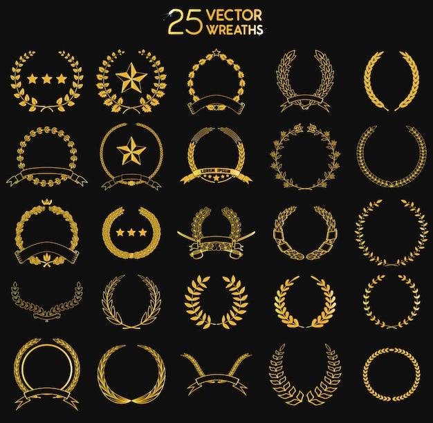 25 grinaldas vectror.
