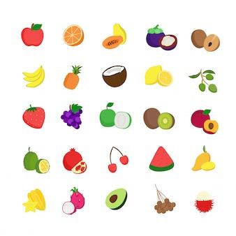 25 ilustrações de ícones de frutas