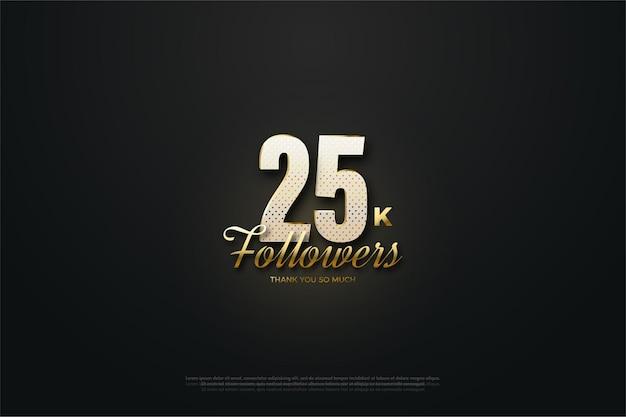 25 mil seguidores com ilustrações de figuras 3d