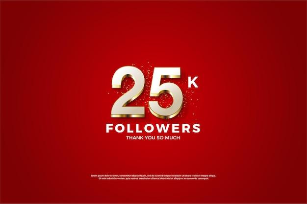 25 mil seguidores com luxuosas ilustrações douradas