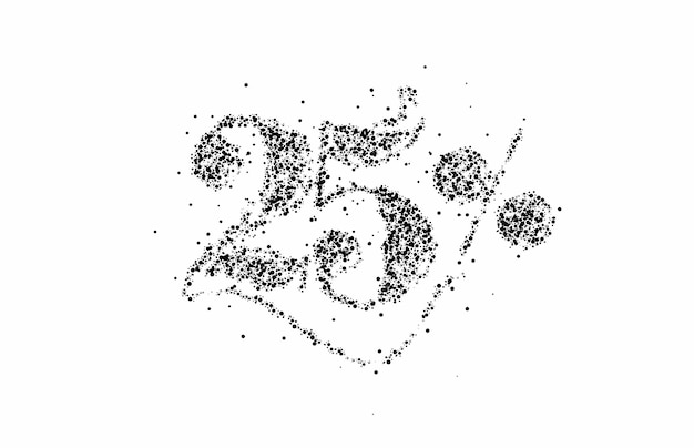 25% off banner de desconto na venda de partículas. desconto na etiqueta de preço da oferta. ilustração em vetor etiqueta moderna.