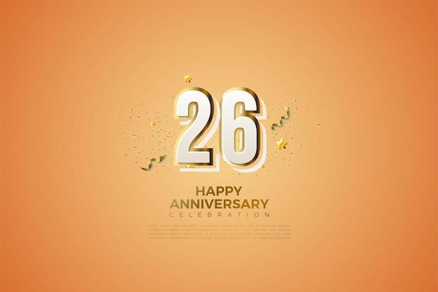 26º aniversário com números modernos