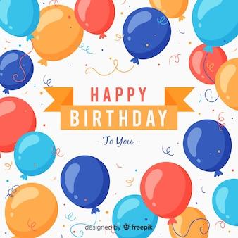 2d aniversário com fundo de balões