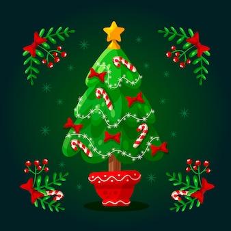 2d árvore de natal papel de parede