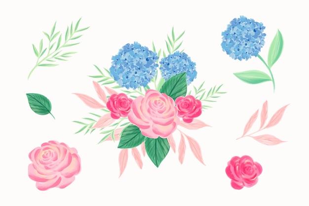 2d bouquet floral colorido