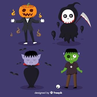 2d coleção de personagens do dia das bruxas