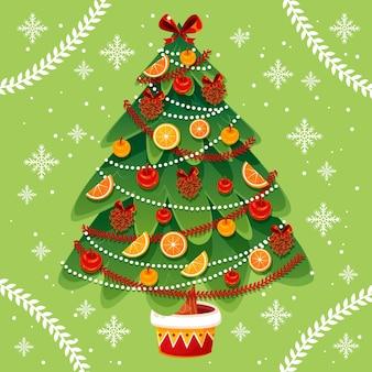 2d conceito de árvore de natal