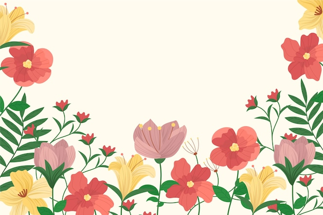 2d fundo floral vintage