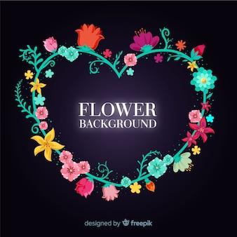 2d fundo floral