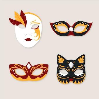 2d misteriosas máscaras de carnaval veneziano