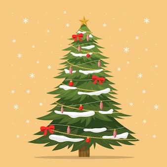 2d modelo de árvore de natal