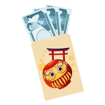 2d otoshidama com dinheiro