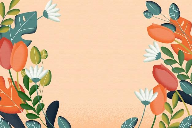 2d vintage flores conceito de fundo