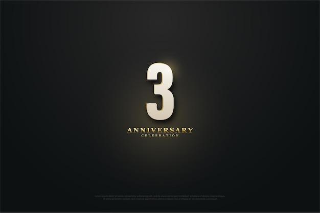 3º aniversário com gradiente de luz