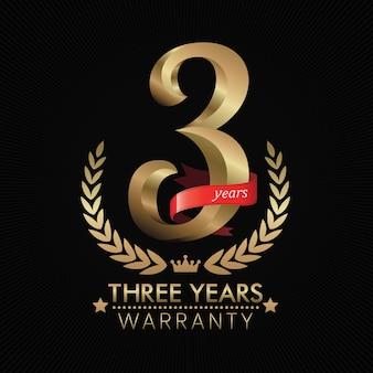 3 anos de fundo de garantia com fita vermelha