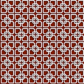 3 d branco padrão no estilo islâmico