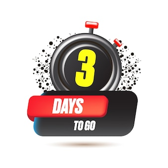 3 dias para ir para o modelo de design de banner