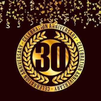 30 anos de design de vetor de celebrações