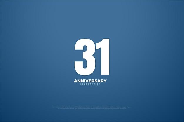 31º aniversário com edição única plana de número