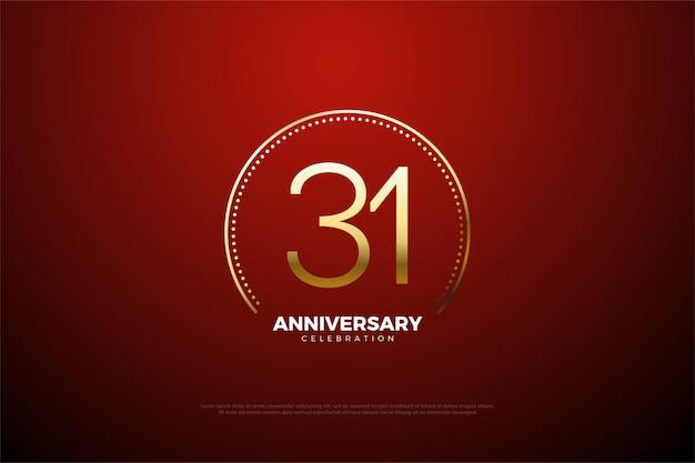 31º aniversário com números bem planos