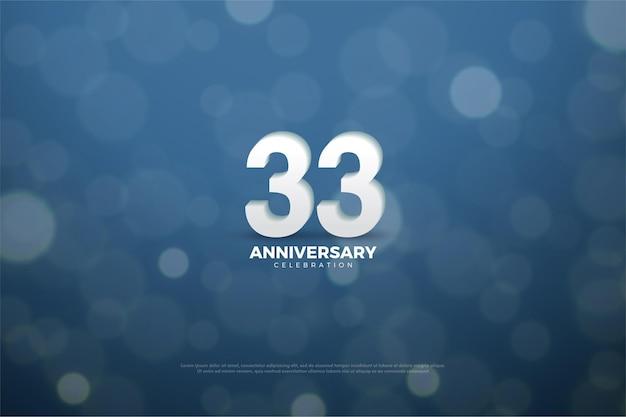 33º aniversário com números 3d