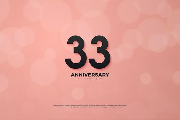 33º aniversário usando um design numeral moderno Vetor Premium