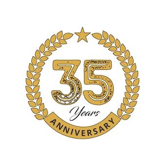 35 anos de vetor de celebrações