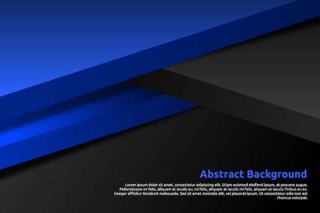 3d abstrato azul