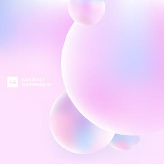 3d abstrato circunda o fundo da cor pastel.