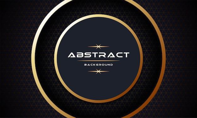 3d abstrato com design de modelo de plano de fundo de camadas de papel dourado