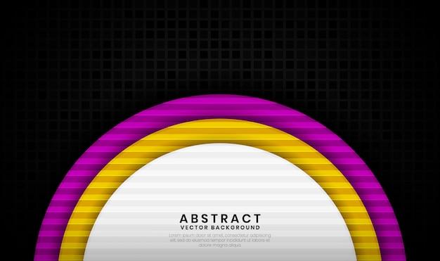 3d abstrato de luxo com textura quadrada aleatória, sobreposição de camada com decoração de formas coloridas