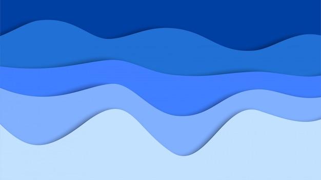 3d abstrato e formas de corte de papel
