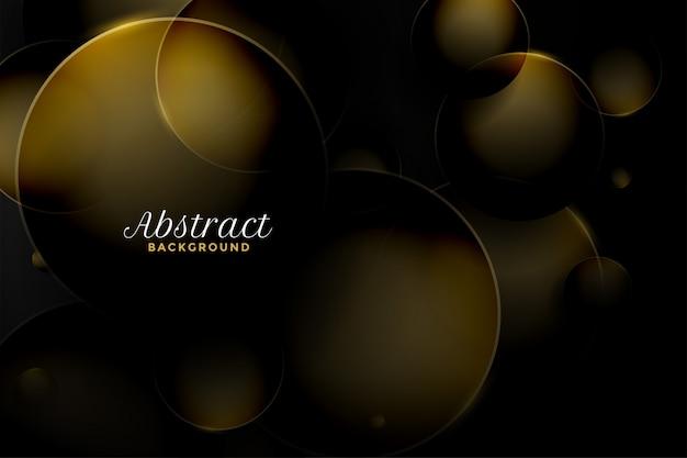 3d abstrato estilo circular fundo dourado