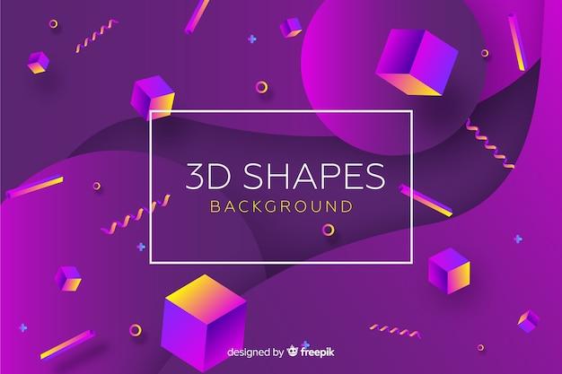 3d abstrato formas de fundo