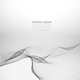 3d abstrato partículas onduladas fundo