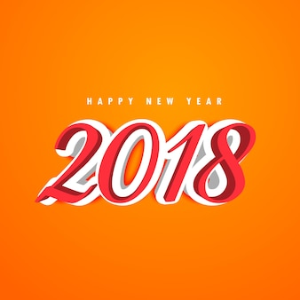 3d ano novo 2018 design de texto criativo