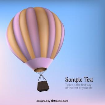 3d balão de ar quente