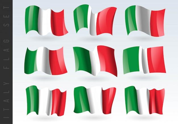 3d bandeira da itália.