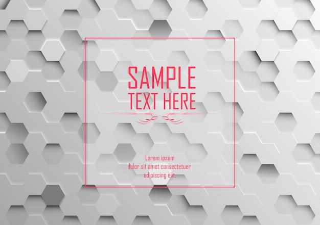 3d branco abstrato fundo hexagonal