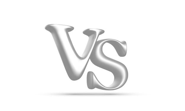 3d branco contra manchete de batalha com sombra isolada no fundo branco. competições entre competidores, lutadores ou equipes. ilustração vetorial