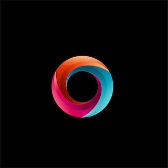 3d círculo cor cheia