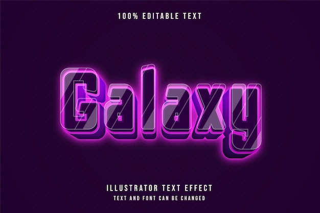 3d com efeito de texto editável e gradação rosa estilo neon