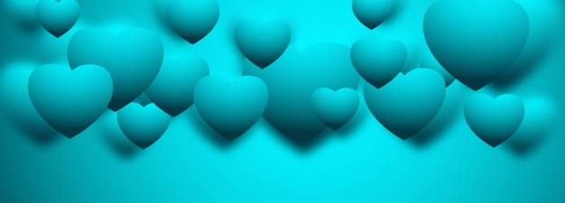 3d corações banner