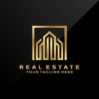 3d, design de logotipo imobiliário de luxo