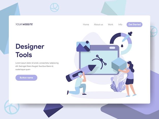 3d designer tools ilustração