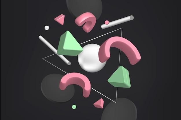 3d fundo geométrico